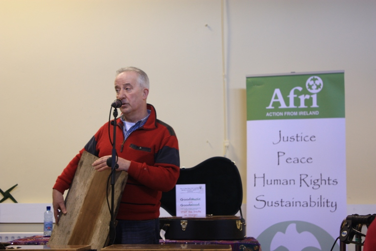 Tom Roche, from Just Forests, speaking at Féile Bríde