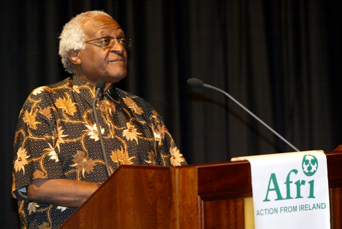 Afri International Patron, Desmond Tutu.  Photo: Derek Speirs