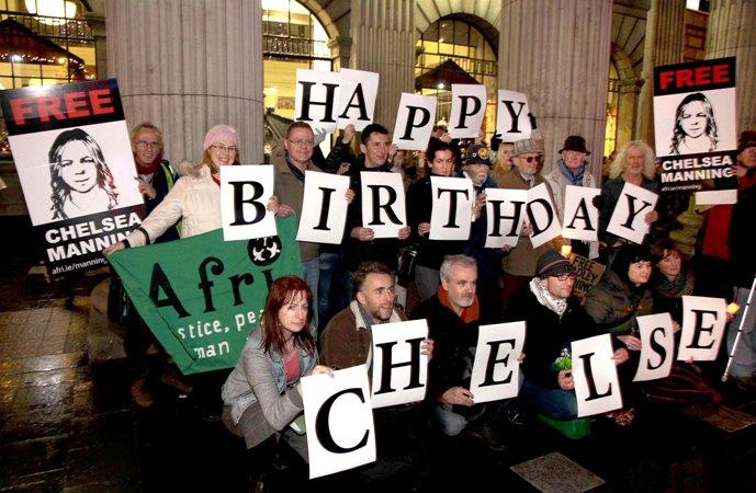 Happy birthday Chelsea from Afri.  Photo: Derek Speirs