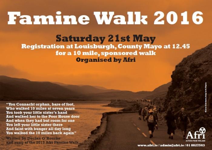 Famine Walk 2016 poster