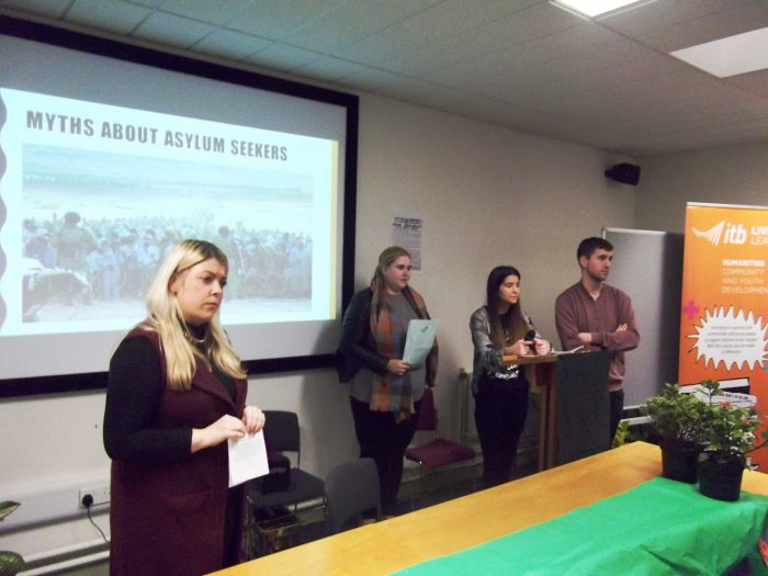 ITB students speaking at the Hedge School