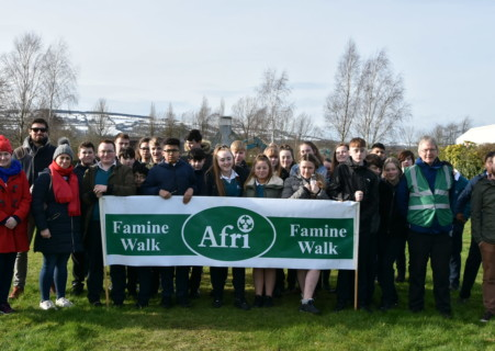 Carlow IT students and staff take part in the Afri Carlow Famine Walk